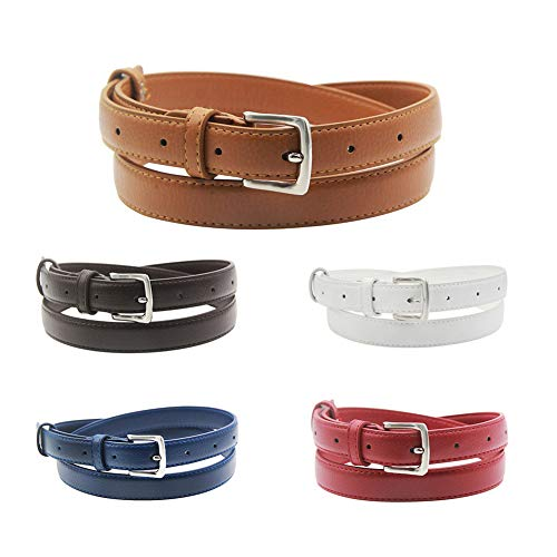 (Maikun Womens Leather Belt, Brown Belt Women, Dress Belt 35-38)