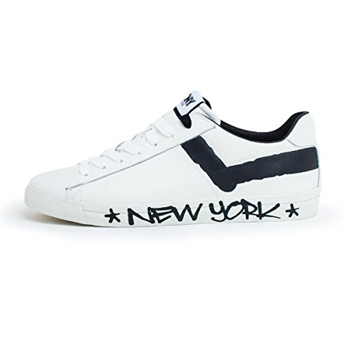 Noir Logo New Basket Avec Blanc York Cuir Pony En f608Tvq