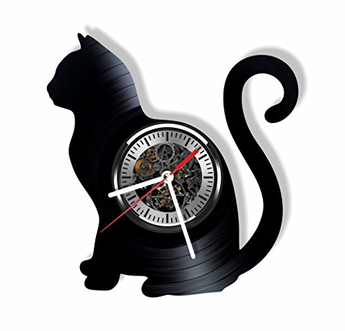 Cat vinyl wall clock - Cat ornament decoration