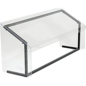 "Carlisle 914807 Acrylic Standard Single Sided Sneeze Guard with Aluminum Frame, 48"" Length x 12.19"" Depth, Clear"