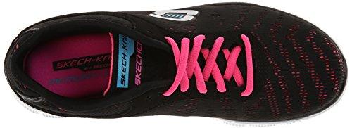 Blanco Glance Para Flex Bkhp Mujer Appeal Zapatillas de First Skechers Deporte Negro w6vq0xCv