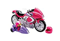 Roll into action with Barbie motorcycle as seen in Barbie Spy Squad and help save the day! In the action-adventure film, Barbie, a world-class gymnast, is recruited to be a world-class secret agent along with her friends Teresa and Renee. The...