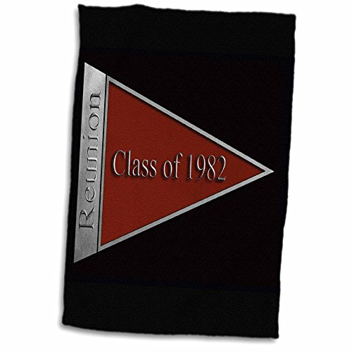 3D Rose Class Reunion Design 1982 Red TWL_18831_1 Towel 15