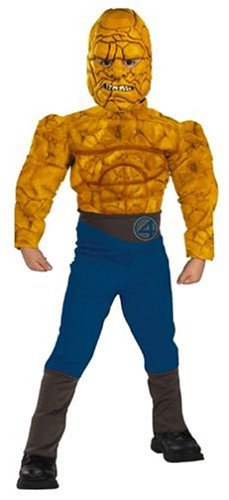 Disguise Fantastic Four The Thing Muscle Child Costume: Size 10-12 -