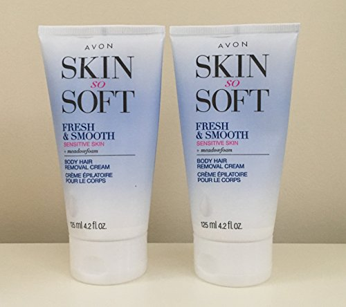 2 Avon SKIN SO SOFT Fresh & Smooth Sensitive Skin Hair Removal Creams