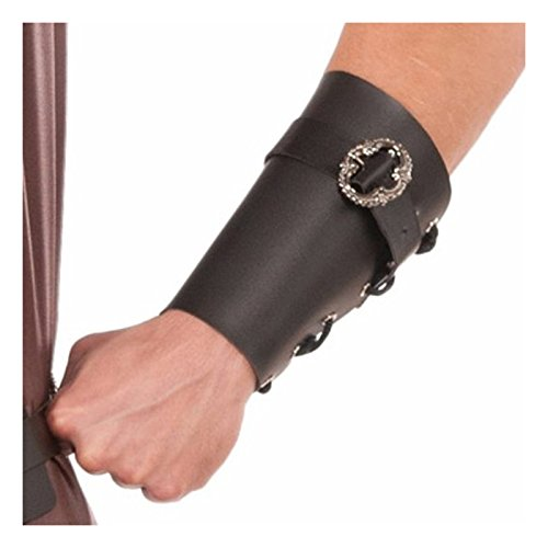 Men's Medieval Wristband Costume Accessory (Black) - Khal Drogo Game Of Thrones Costume