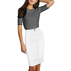 Lexi Womens Super Comfy Perfect Fit Stretch Denim Skirt 24