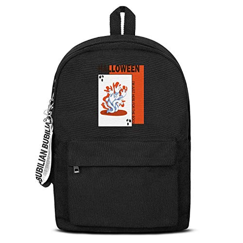 Pwisxn Backpack Notebook Waterproof Motion I'm Just Here for The Boos Ghost Face Halloween Mens,Womens,canvasBackpack Black Schoolbag Sportsbag]()