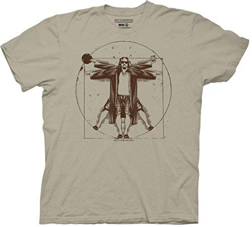 Big Lebowski Vitruvian Herren Kamel T-Shirt