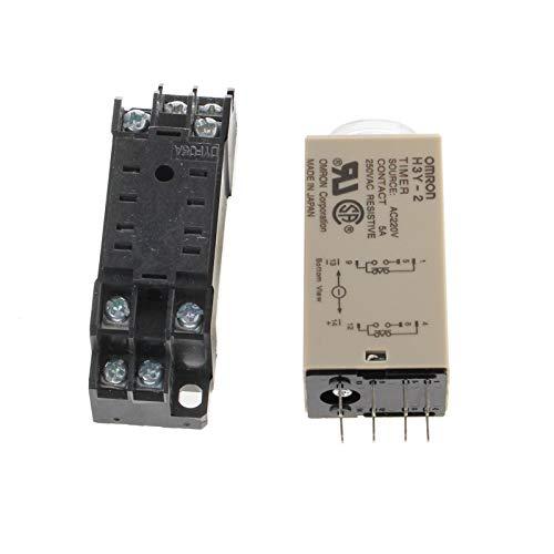 Magen Minuterie de relais temporis/é 0-30 Minutes H3Y-2 DC 12V DPDT avec socle