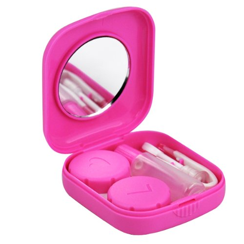TOOGOO(R) Pink Mini Contact Lens Travel Kit Case - Mini Contact Lens Case