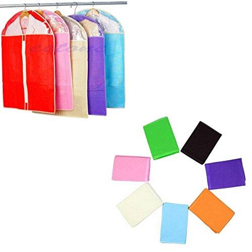 (Sunward Hot Sale Home Dress Clothes Garment Suit Cover Case Dustproof Storage Bags Protector Color:Random color (S))