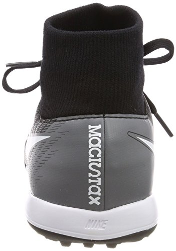 Nike Jr Magistax Onda II DF TF, Botas de Fútbol Unisex Niños Black/White-Cool Grey-Stadium Green