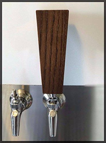 Solid Oak Hardwood Beer Tap Handle (6'', Dark Walnut)