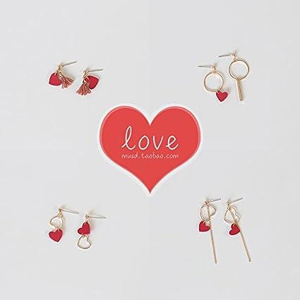 b8e672c83ac3 lindo pendientes rojos de Santa Claus pendientes falsos pendientes de la  borla larga sección de clip