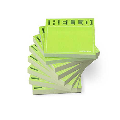 Knock Knock Desk Pad Sticky Note Pads, Die Cut Hello (12566-8), 8-Count
