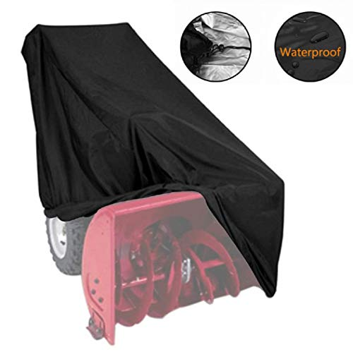 Waterproof Snow Thrower Cover Two Stage Snow Blower Cover Protection for Most Electric Two Stage Snow Blowers ()