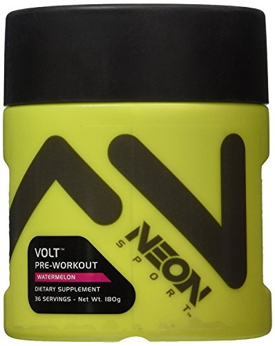 Neon Sport Volt Creatine Free Preworkout With Beta Alanine  Watermelon  36 Servings  180 Grams