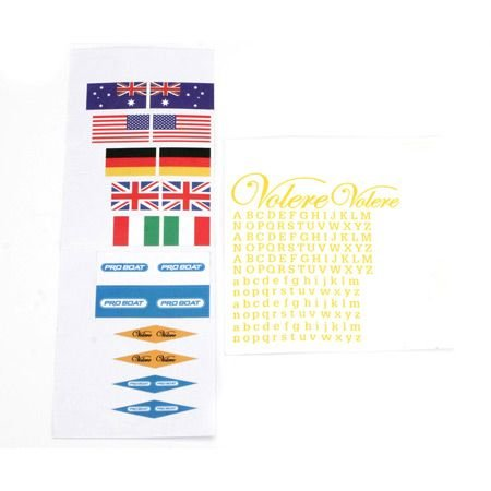 - Pro Boat Decal Sheet: Volere, PRB3064