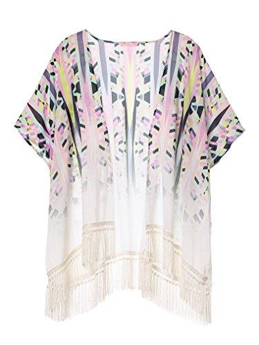 Victorias Secret Cover Up - Victoria's Secret Swim Cover Up Caftan Kimono Fringe Geometric Beach Swimwear XS S