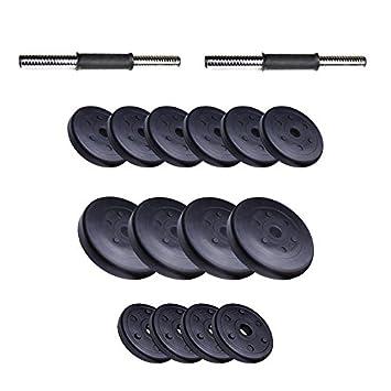 ScSPORTS - Conjunto de Mancuernas de 42 kg Mancuernas 35 cm Diámetro 30 mm Pesas de plástico Agujero 30 mm de diámetro: ScSPORTS: Amazon.es: Deportes y aire ...