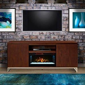 Draper Cabinet Walnut & 28″ Infrared Firebox