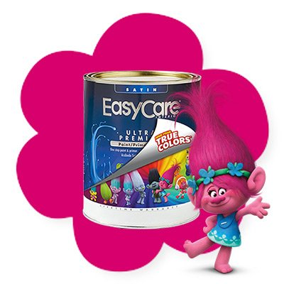 Poppylicious True Value Easy Care Troll Paint and Primer