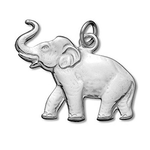 Sterling Silver Flat Elephant Charm or Pendant Item #3443
