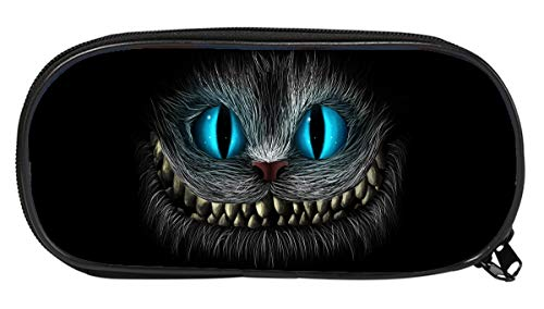 Cheshire Cat Pattern Student School Pencil Case for