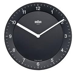 Braun BNC006BKBK Classic Analog Quartz Wall Clock