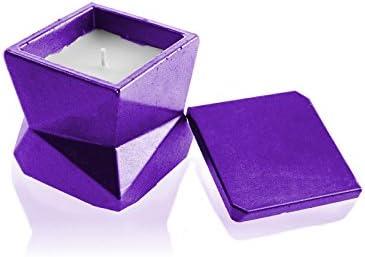 Pineapple Violet Lemongrass Scent Candellana Candles Candlefort Concrete Candle