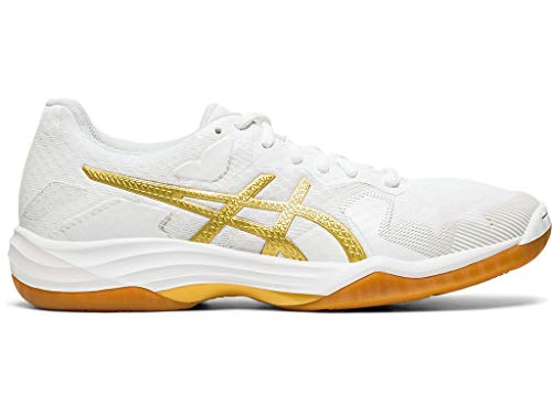 ASICS Women's Gel-Tactic 2 Volleyball Shoes, 10M, White/Rich Gold ()