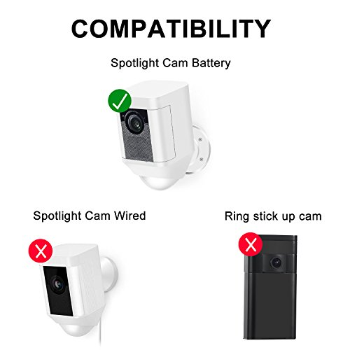 Frienda Silicone Cover Skin for Ring Spotlight Battery Cam