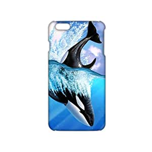 Evil-Store blue sea whale 3D Phone Case for iPhone 6