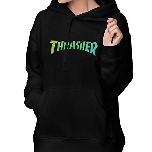 90b88ed05b73 Reneealsip Thrasher Flame Women's Pullover Sweatshirt Printed Hoodies  Hooded Sweatshirt Pockets