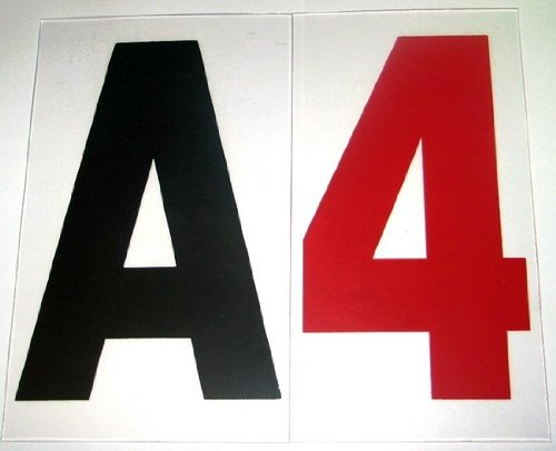 4'' on 5 Inch Rigid Marquee Letters - 300 Count