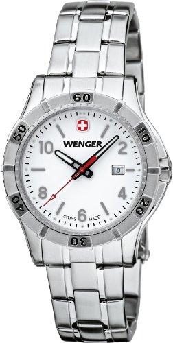 Wenger 0921.103 Women's Platoon White Dial Stainless Steel Bracelet Watch