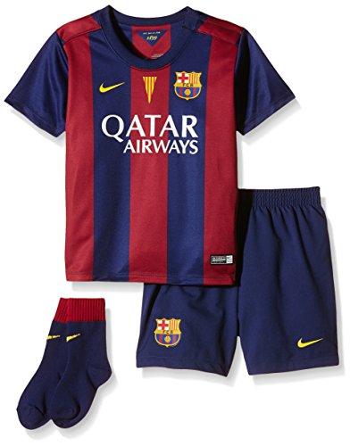 Nike Barcelona Little Boys Home Soccer Toddler Uniform Kit (Red, Blue) Large Toddler ()