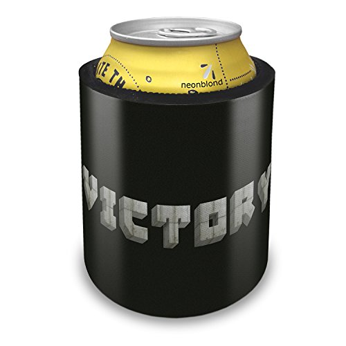 Slap Can Coolers Victory Concrete Stone Blocks Insulator Sleeve Covers Neonblond