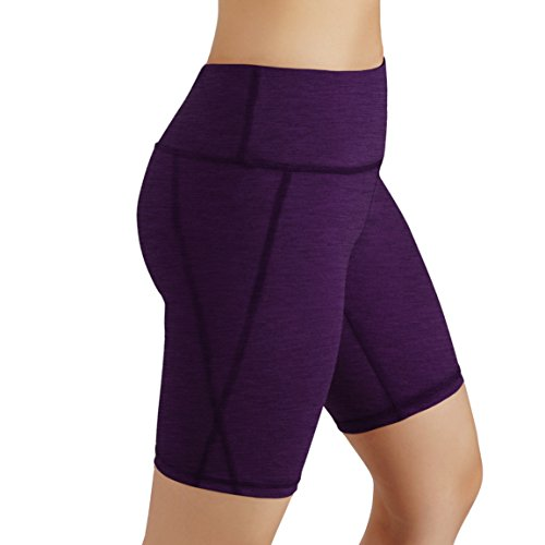 ODODOS Power Flex Women's Tummy Control Workout Running Shorts Pants Yoga Shorts With Hidden Pocket, DeepPurple, X-Large