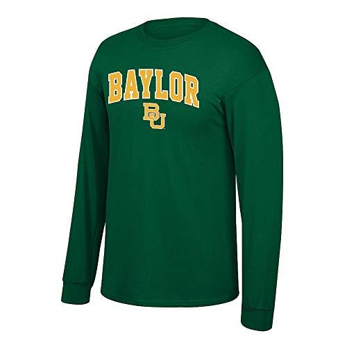 Elite Fan Shop NCAA Men's Baylor Bears Long Sleeve Shirt Team Color Arch Baylor Bears Green Large