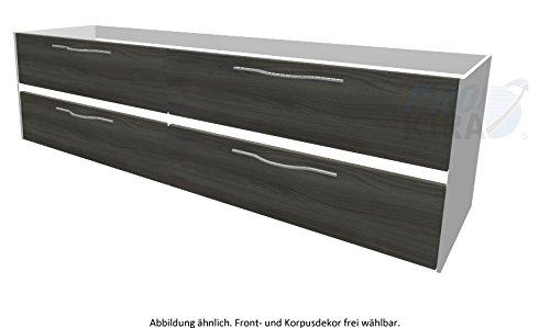 PELIPAL SOLITAIRE 6010 Waschtischunterschrank inkl. LED / WTUSLB 09 / Comfort N / 182x51,2x49,3cm /
