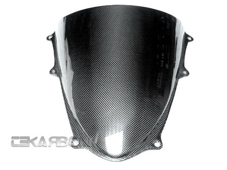 Tekarbon, Carbon Fiber Windscreen, for Suzuki GSXR 1000 (2009-2015), 1x1 Plain - Carbon Fiber Windscreen