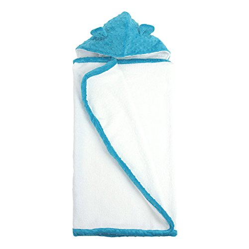 My Blankee Minky Dot Hooded Terry Towel, Turquoise, 26