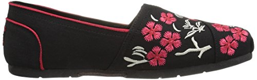 Skechers Bobs from Womens Luxe Fashion Slip-on Flat Black Cherry Blossom zV9iim1a