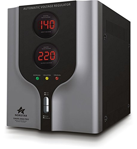 Norstar Power Converter with Voltage Stabilizer (2000 Watts) - Step Up & Step Down Voltage Transformer - Automatic Voltage Regulator with Stabilizer (2000 Watts)