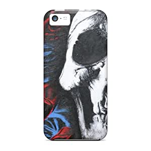 High Quality Hard Phone Covers For Iphone 5c (Gtw15103MIpT) Customized High-definition Deftones Skull And Roses Image