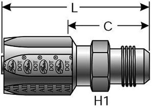 Male JIC 37 Flare C5D and C5M Hose 3//16 ID 3//16 ID G34165-0404-GAT Steel Gates 4C5-4RMJ Field Attachable for C5C