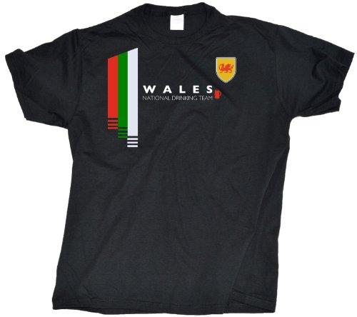 Ann Arbor T-shirt Co. Men's Wales National Drinking Team Welsh Pride T-Shirt