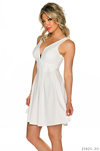 Unbekannt - Vestido - para mujer Weiß